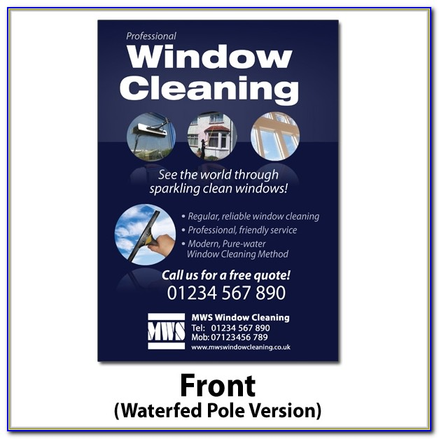 Window Cleaning Flyer Template Free