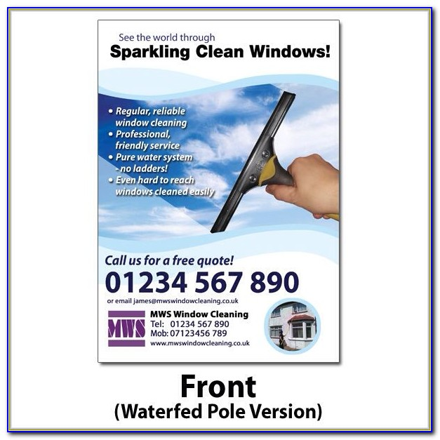 Window Cleaning Flyer Template