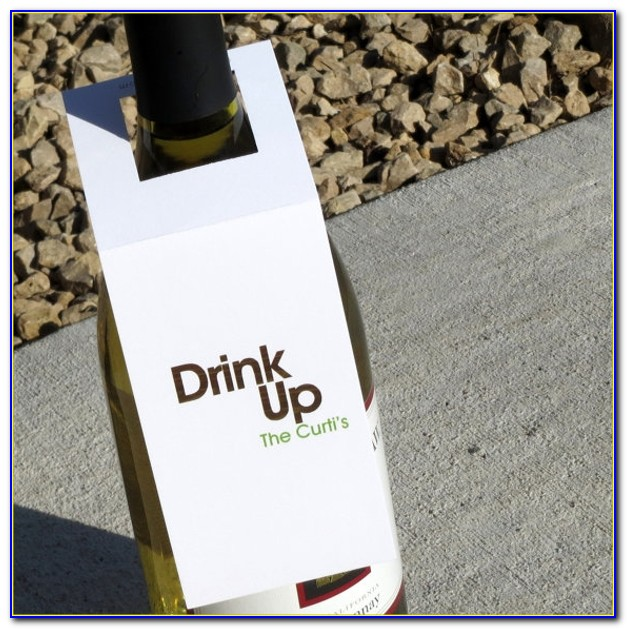 Wine Bottle Neck Gift Tag Template
