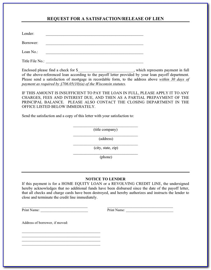 Wisconsin Partial Lien Waiver Form