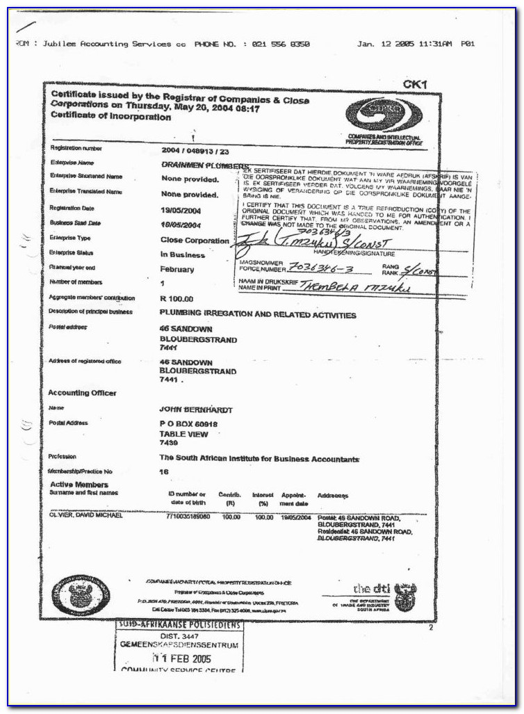 Workmens Compensation Forms South Africa