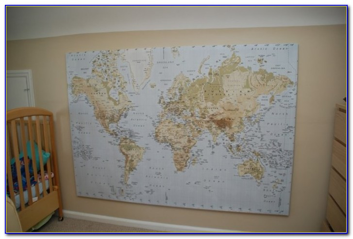 World Map Canvas Print Ikea