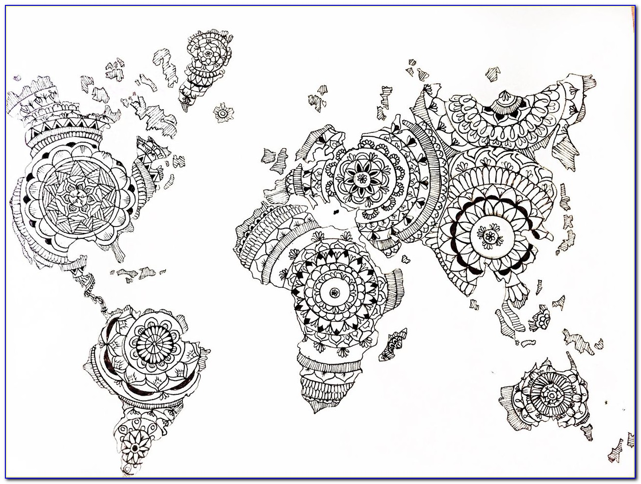World Map Mandala Tattoo