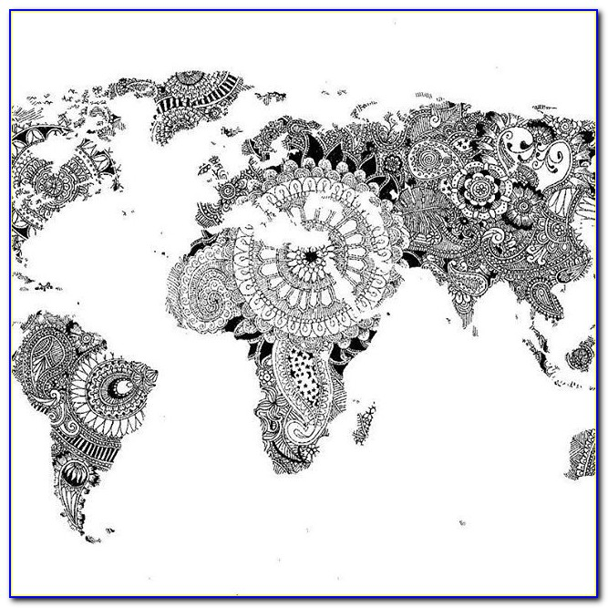 World Map Poster Mandala