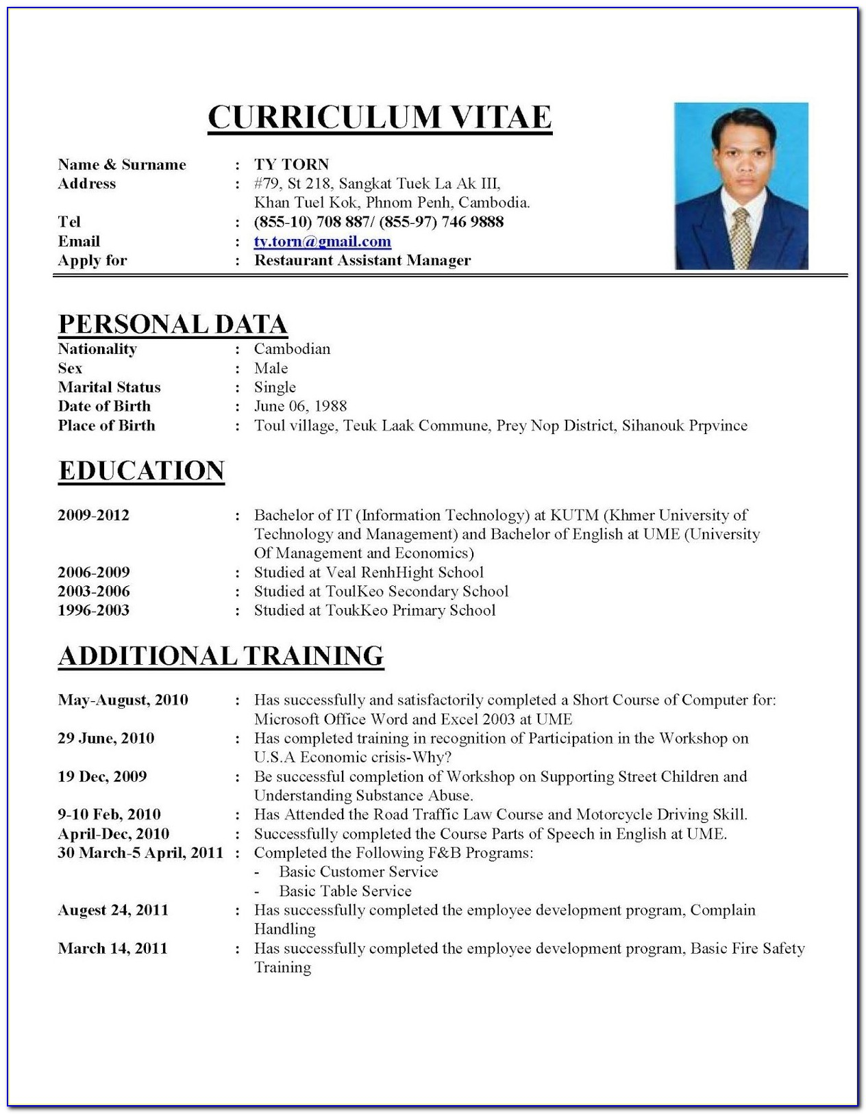 Resume Example 2018 Gse.bookbinder.co Pertaining To How To Prepare Cv Format