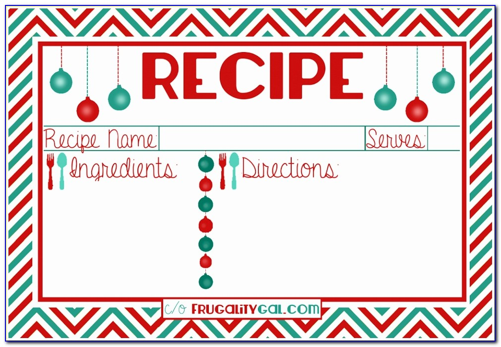 Christmas Recipe Card Template] Printable Holiday Recipe Card Printable Christmas Recipe Cards Free Templates Beautiful Pdf Word Excel Doc Xls Templates Wypyn