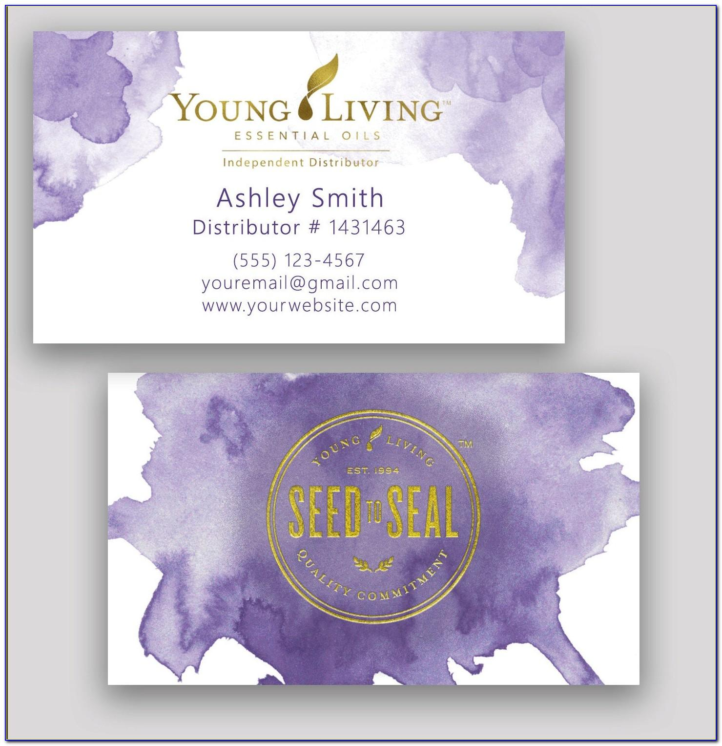 Young Living Business Card Templates Free