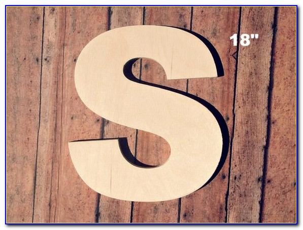 18 Inch Wood Letters