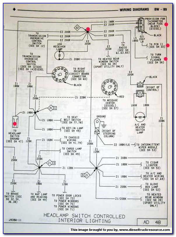 1992 Dodge D250 Radio Wiring Diagram