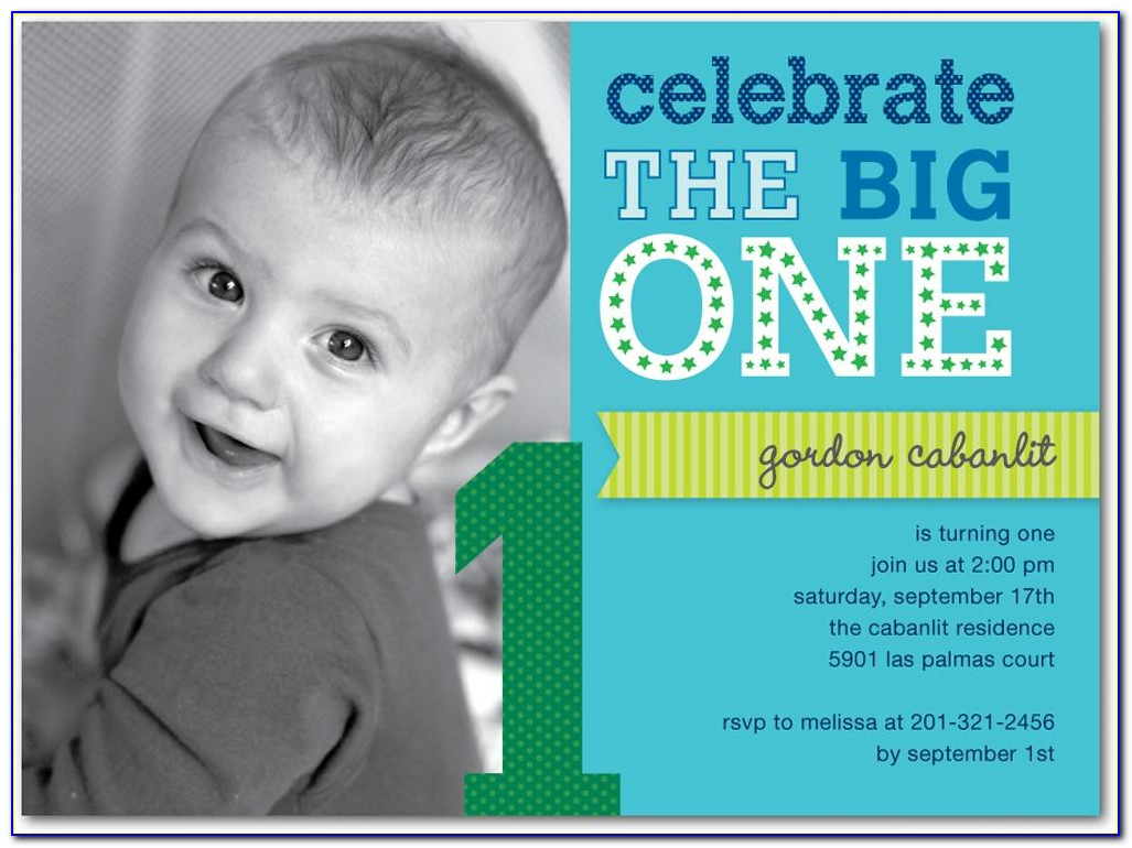 1st Birthday Birthday Invitation Wording