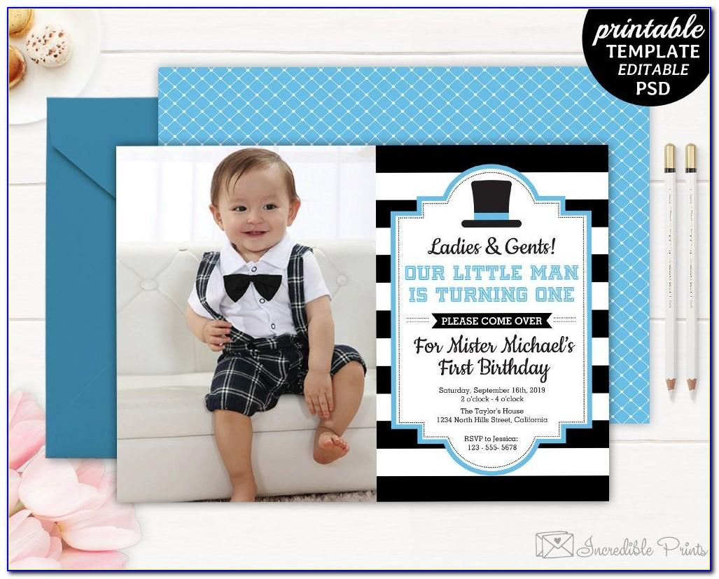 1st Birthday Invitation Card For Baby Boy Online Free