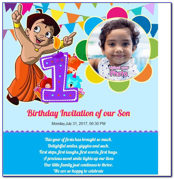 1st Birthday Invitation Card In Tamil