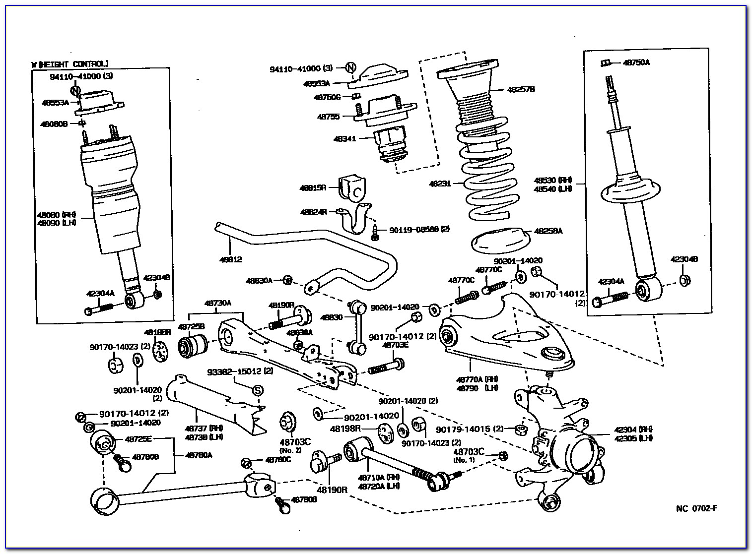 2001 Lexus Is300 Front Suspension Diagram