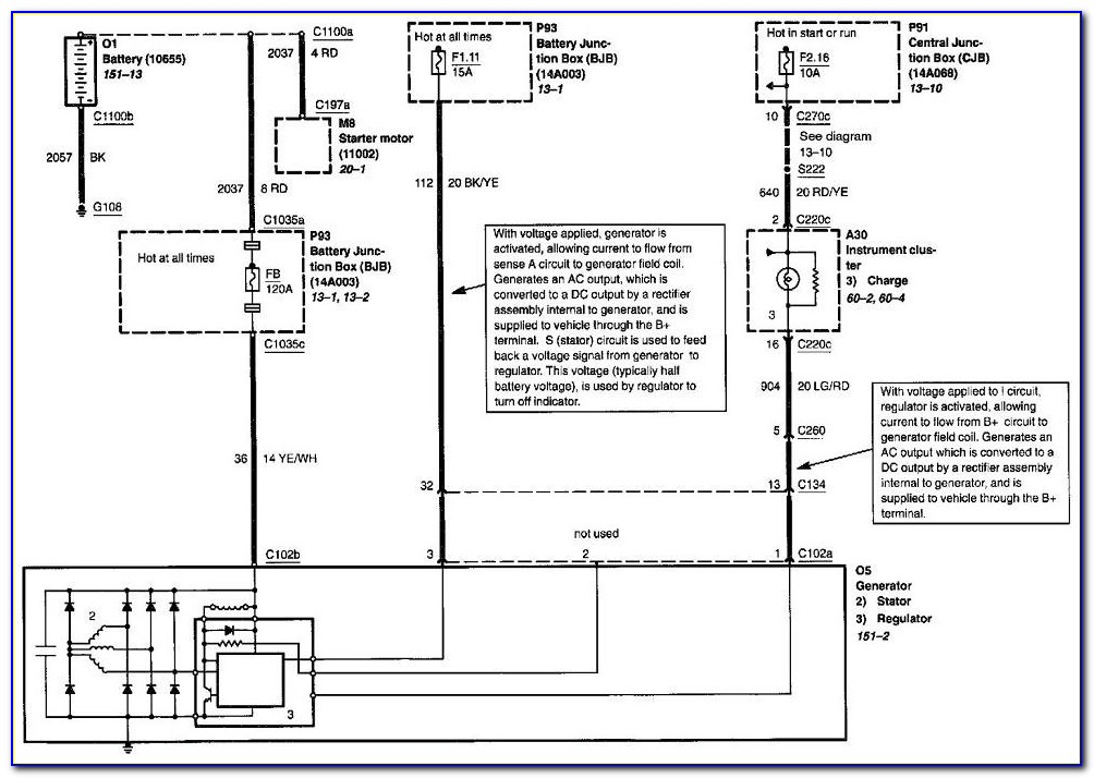 2002 Ford Escape Alternator Wiring Diagram