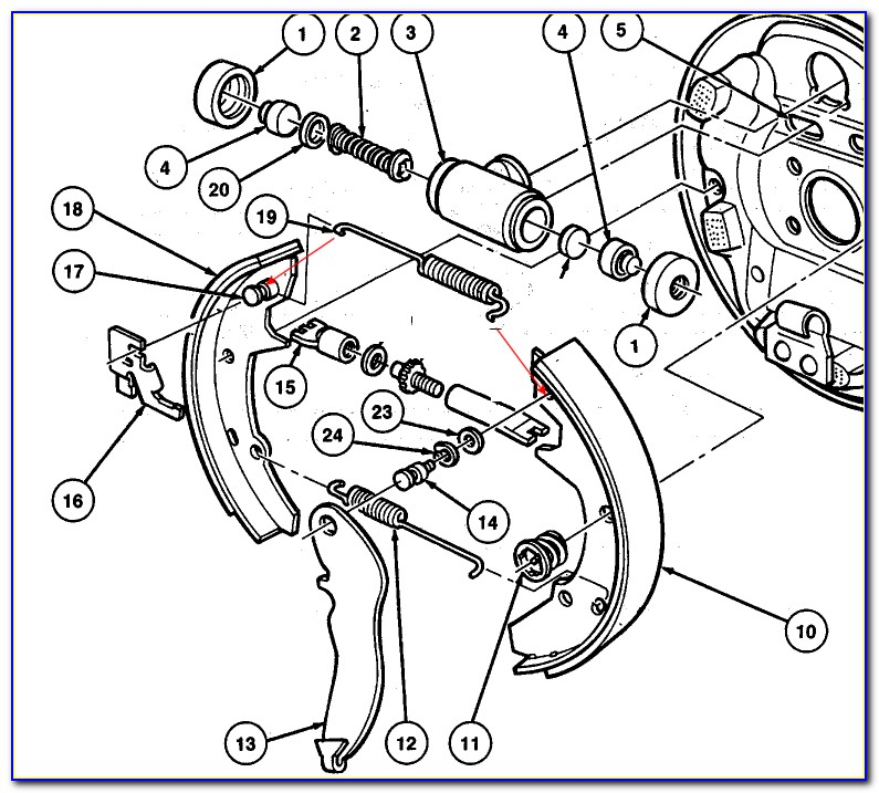 2002 Ford Taurus Drum Brake Diagram