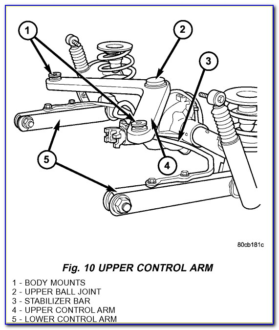 2002 Jeep Liberty Front Suspension Diagram