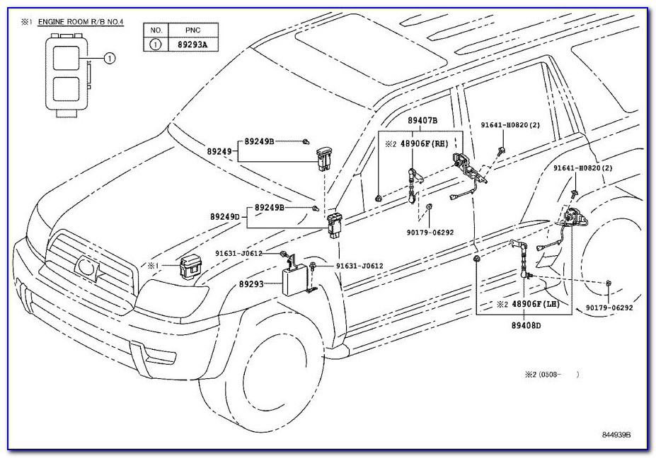 2002 Toyota 4runner Rear Suspension Diagram