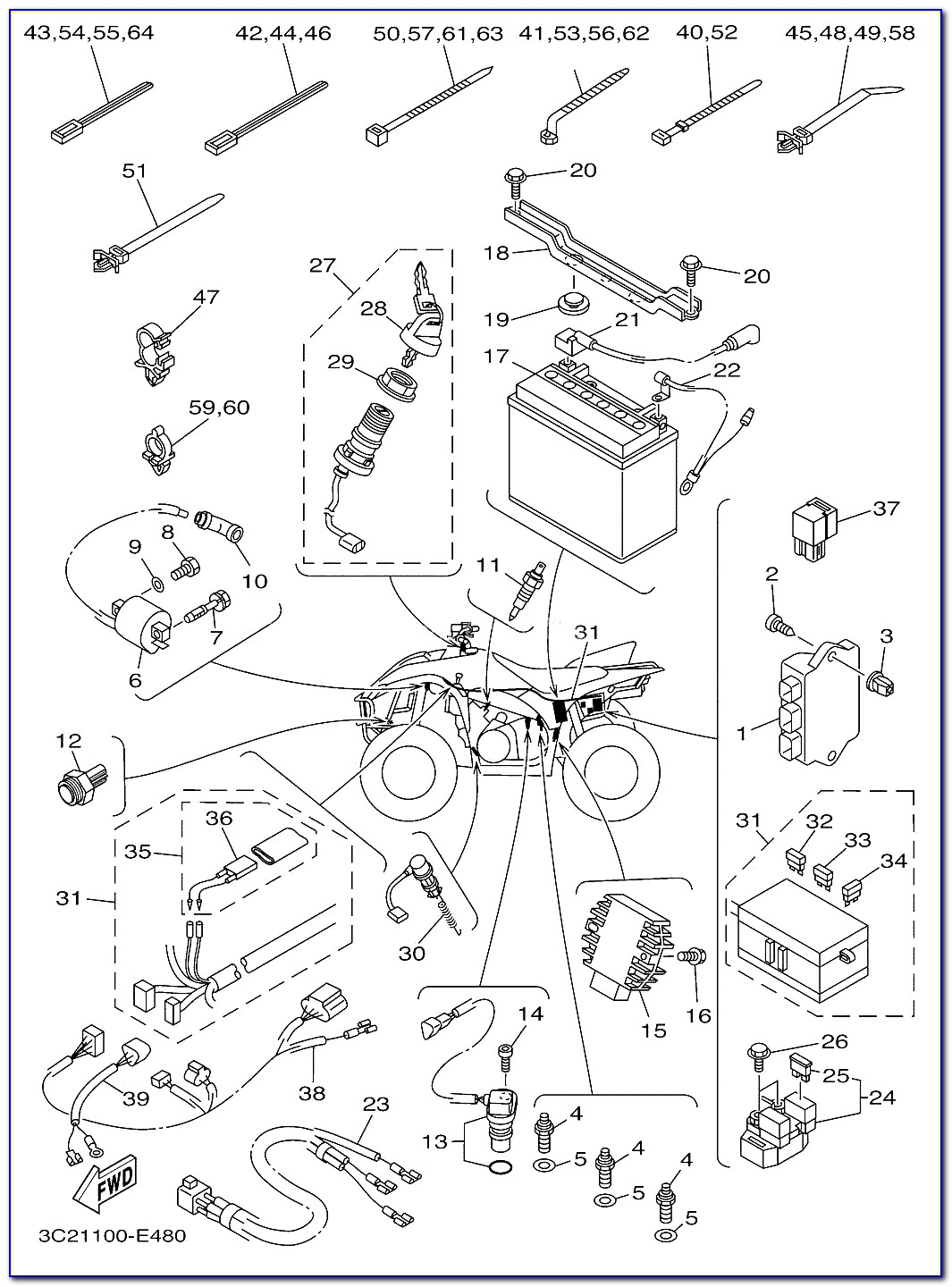 2002 Yamaha Blaster Carburetor Diagram