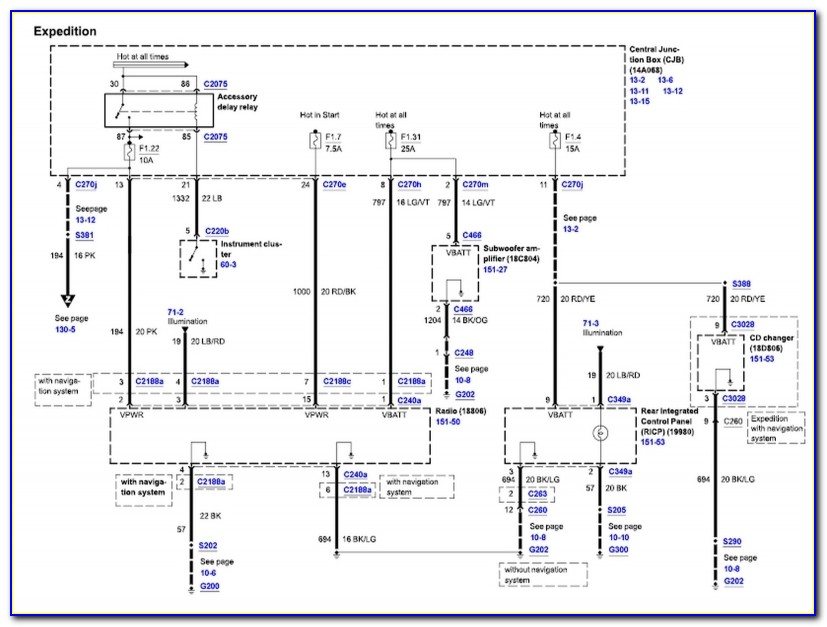 2003 Ford Expedition Radio Wiring Diagram