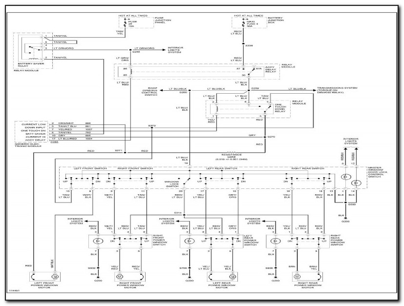 2003 Ford Explorer Sport Trac Power Window Wiring Diagram