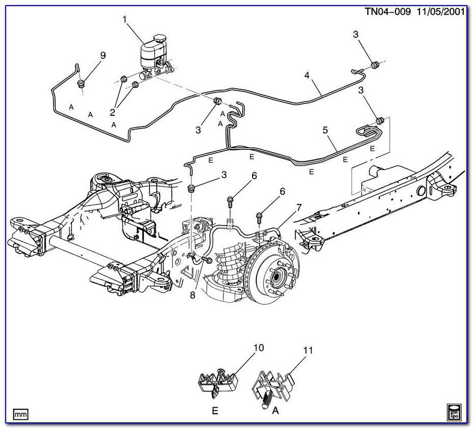 2004 Chevy Tahoe Abs Module Brake Line Diagram