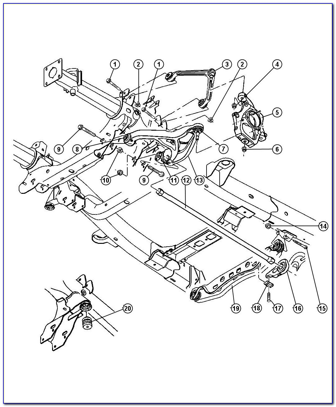 2004 Dodge Durango Rear Suspension Diagram