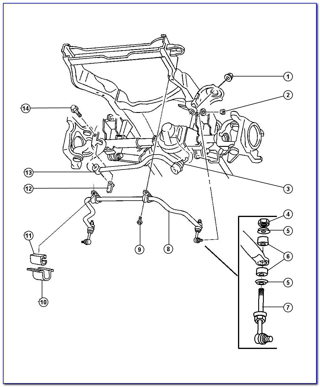 2005 Dodge Ram Front Suspension Diagram