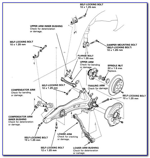 2005 Honda Civic Suspension Diagram