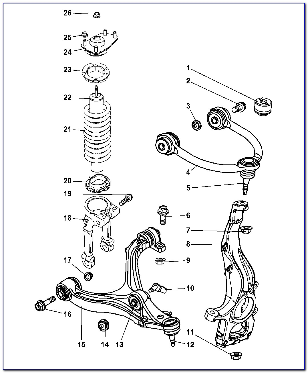 2005 Jeep Grand Cherokee Front Suspension Diagram