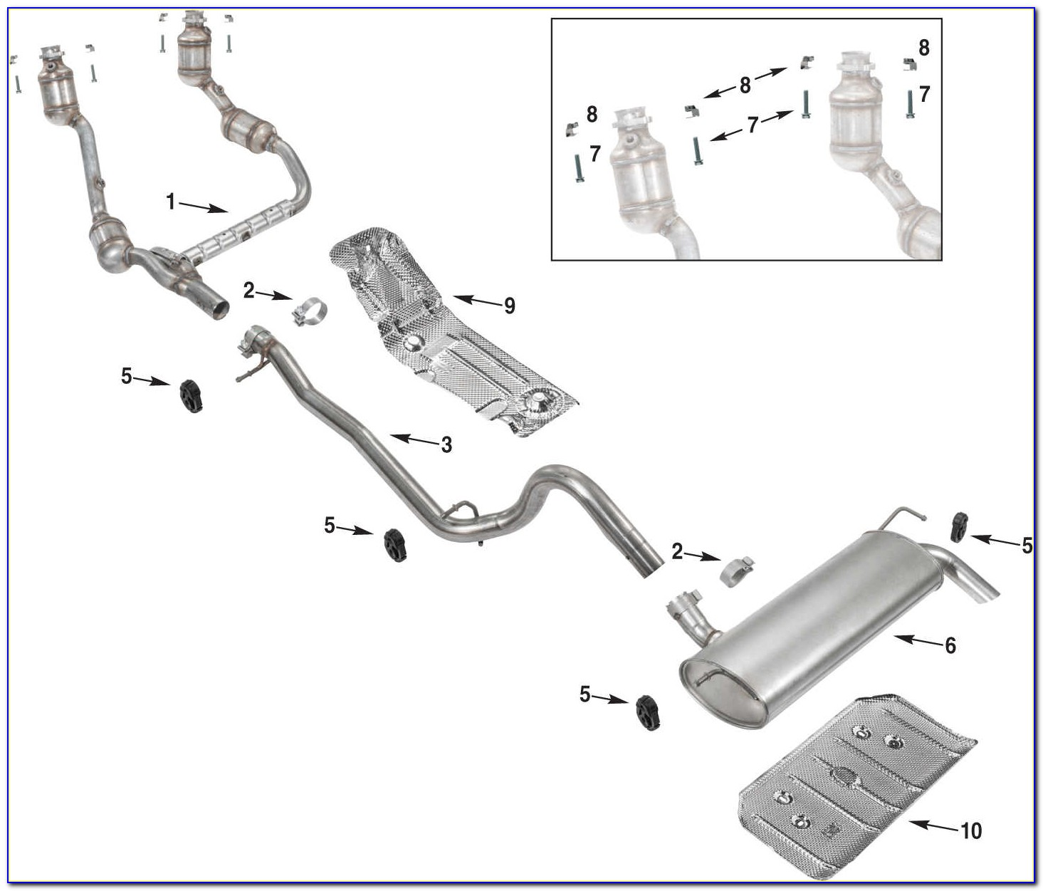 2007 Jeep Wrangler Exhaust Diagram