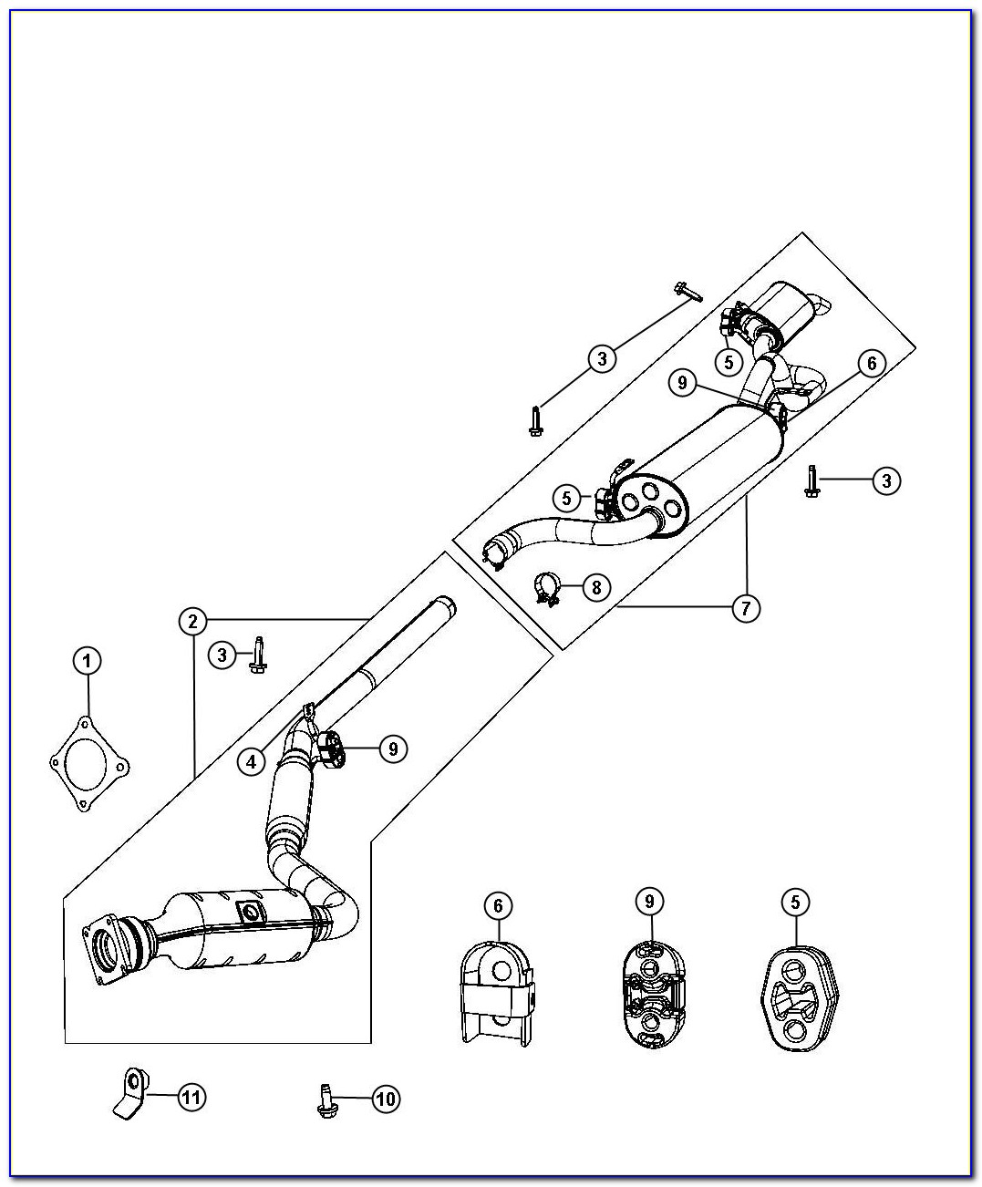 2010 Chrysler Town And Country Exhaust System Diagram