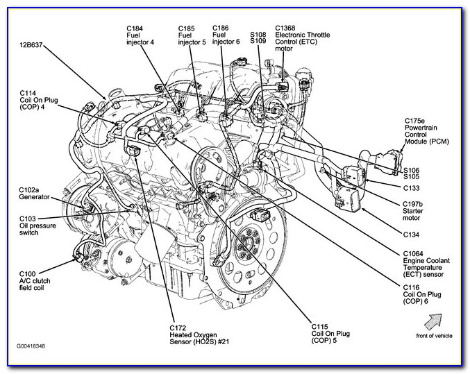 2012 Ford Fusion 4 Cylinder Engine Diagram