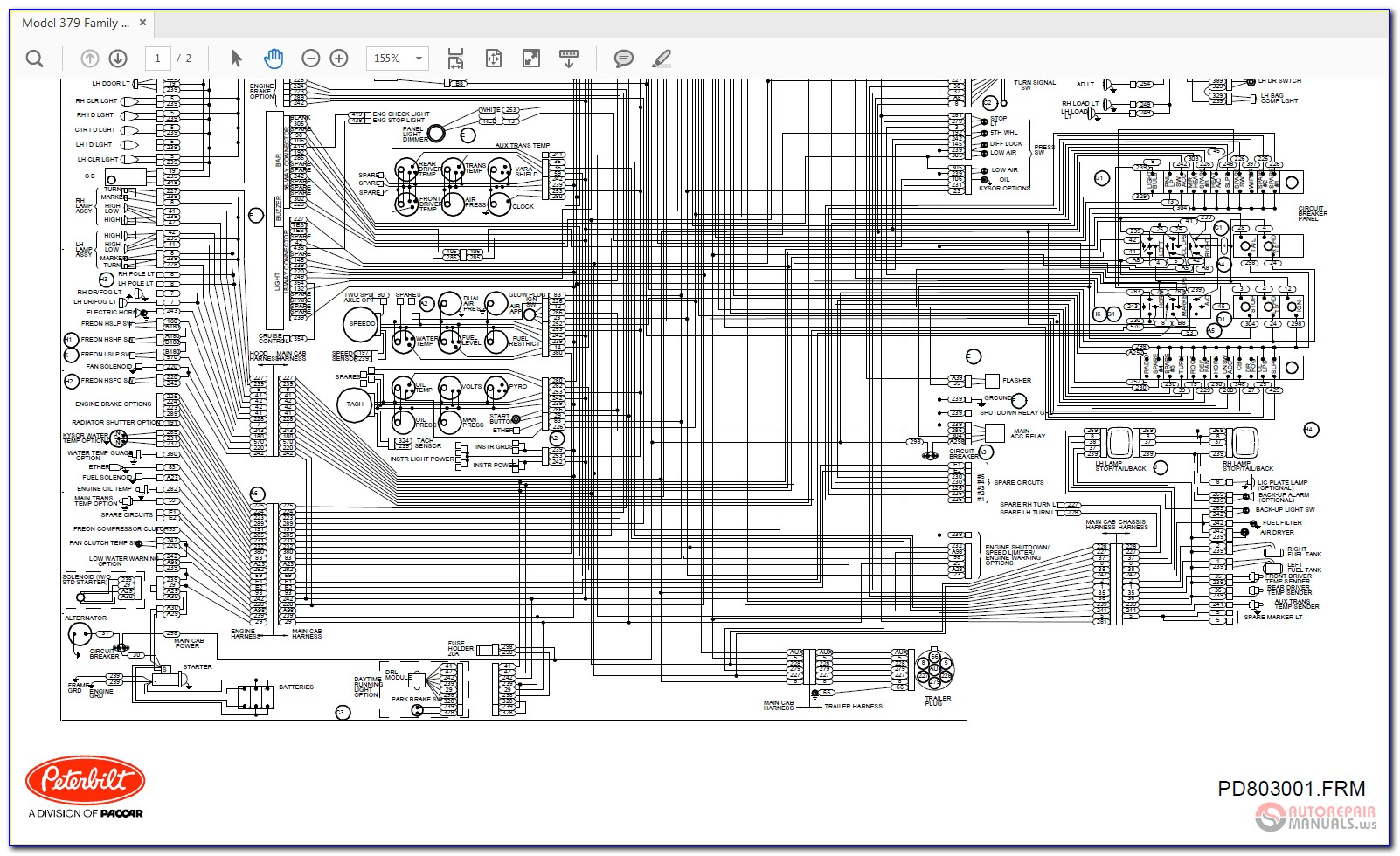 2016 Peterbilt 389 Wiring Diagram