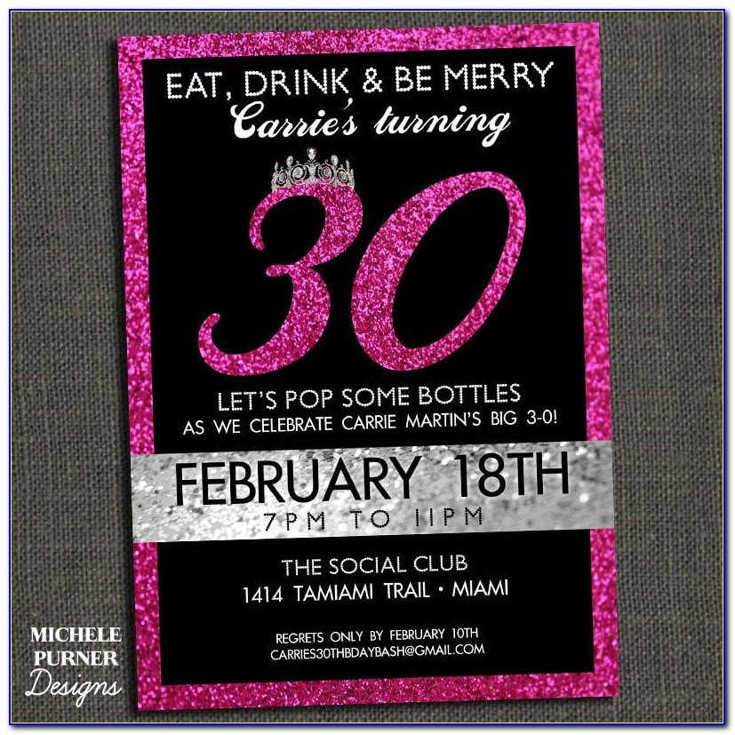 30th Birthday Invitation Wording Samples