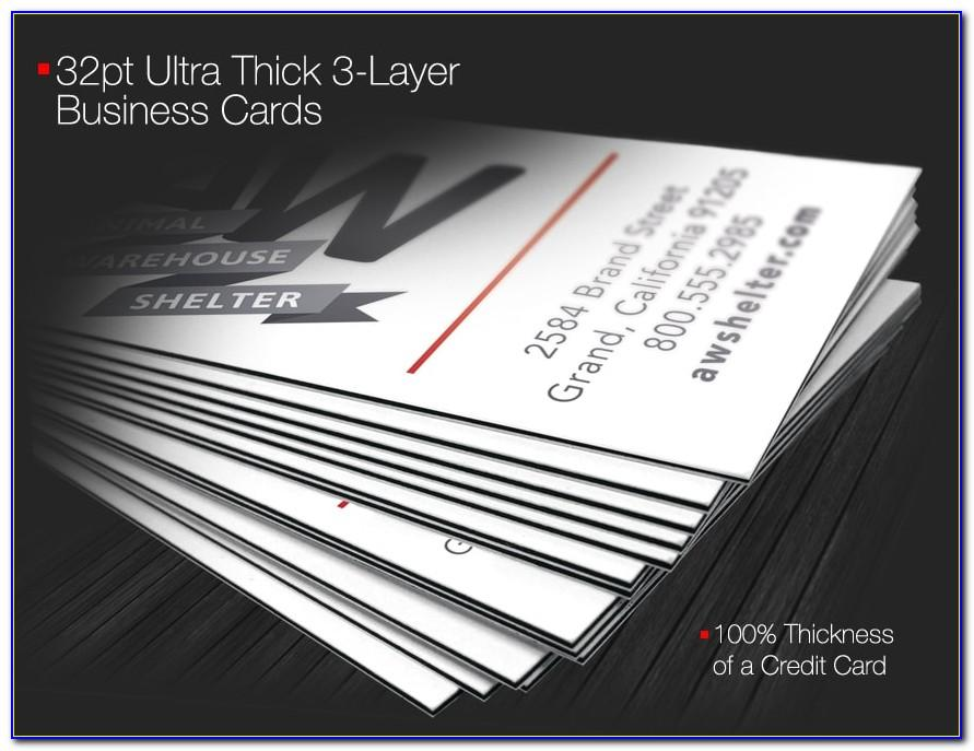 32pt Business Card Printing
