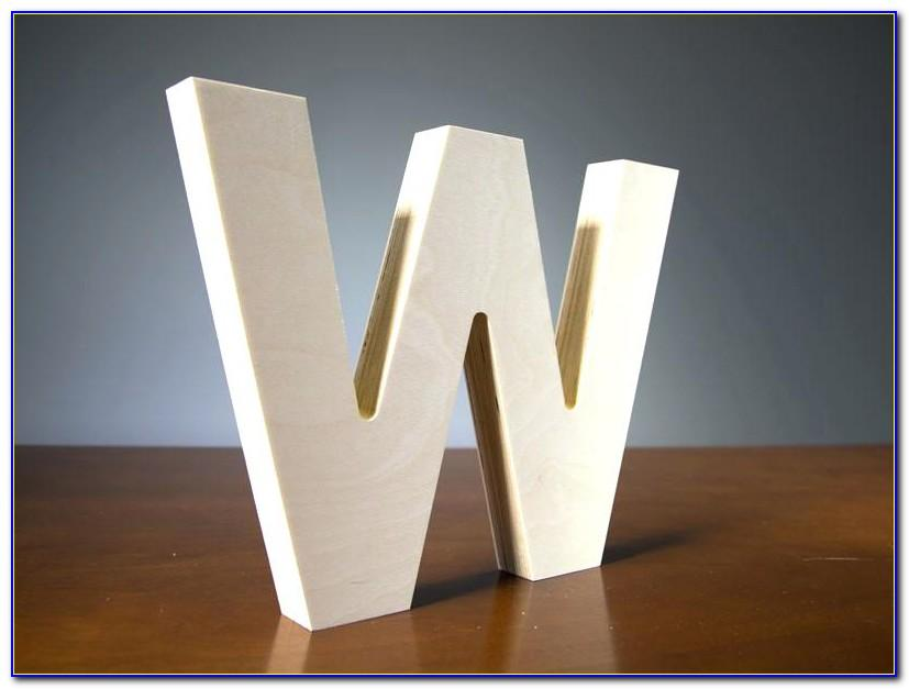 36 Inch Wooden Monogram Letters