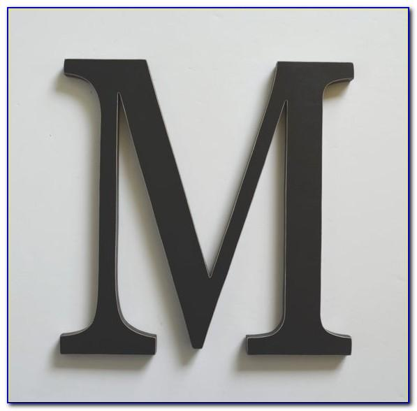 4 Inch Wooden Alphabet Letters