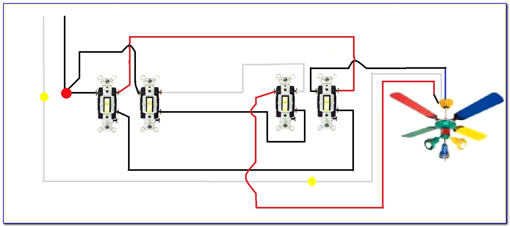 4 Wire Ceiling Fan Switch Diagram