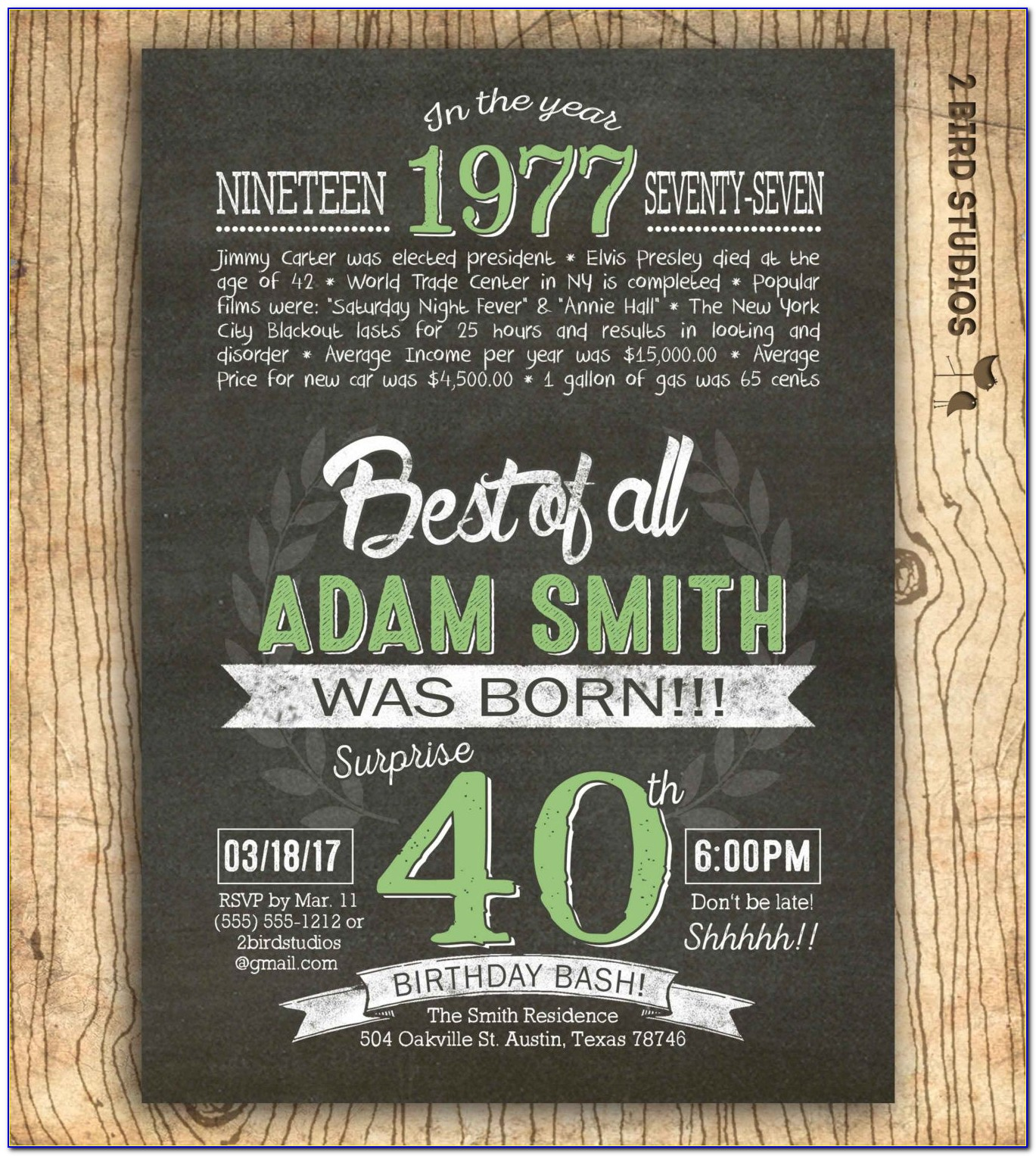40th Birthday Party Invitation Quotes