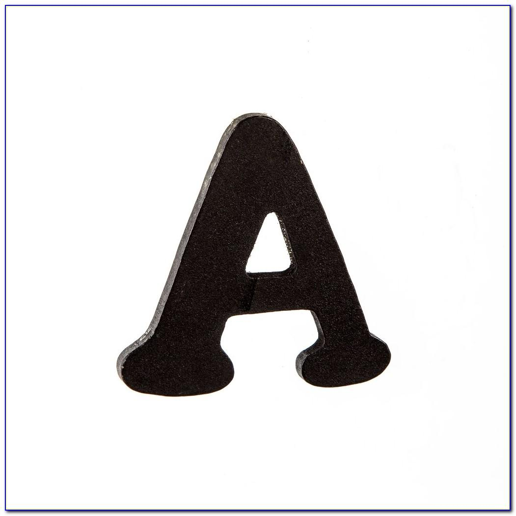 5 Inch White Wooden Letters