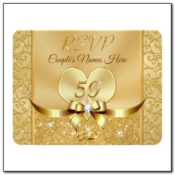 50th Wedding Anniversary Invitations With Response Cards