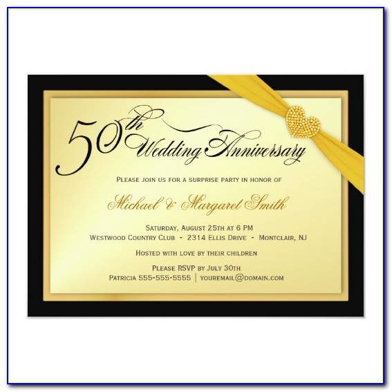 50th Wedding Anniversary Surprise Party Invitation Wording