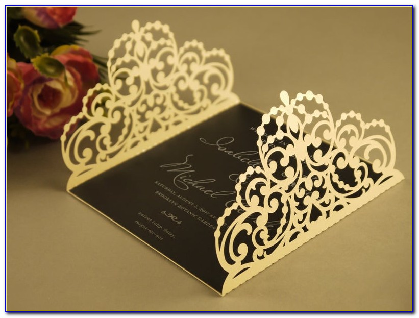 5×5 Pocketfold Wedding Invitations
