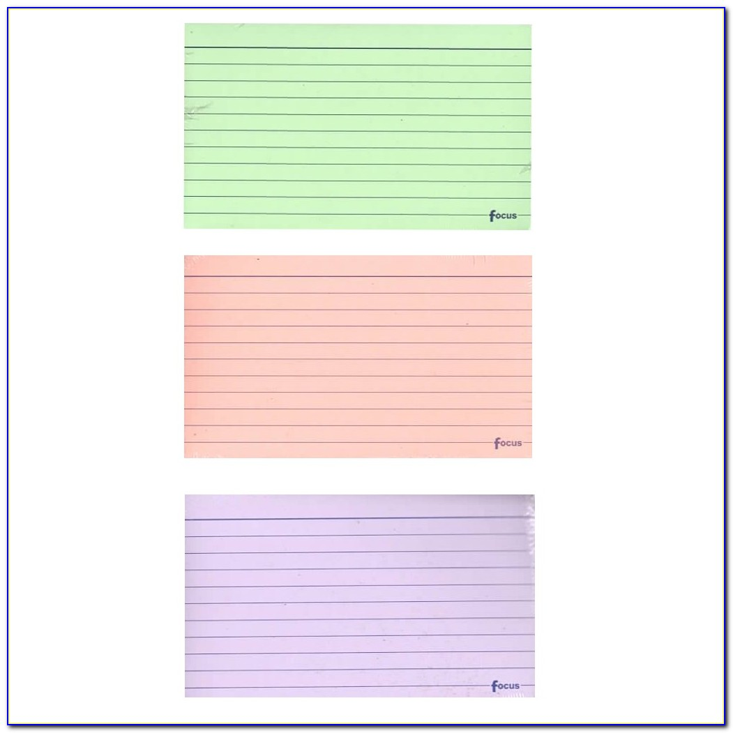 5x8 Lined Index Card Template
