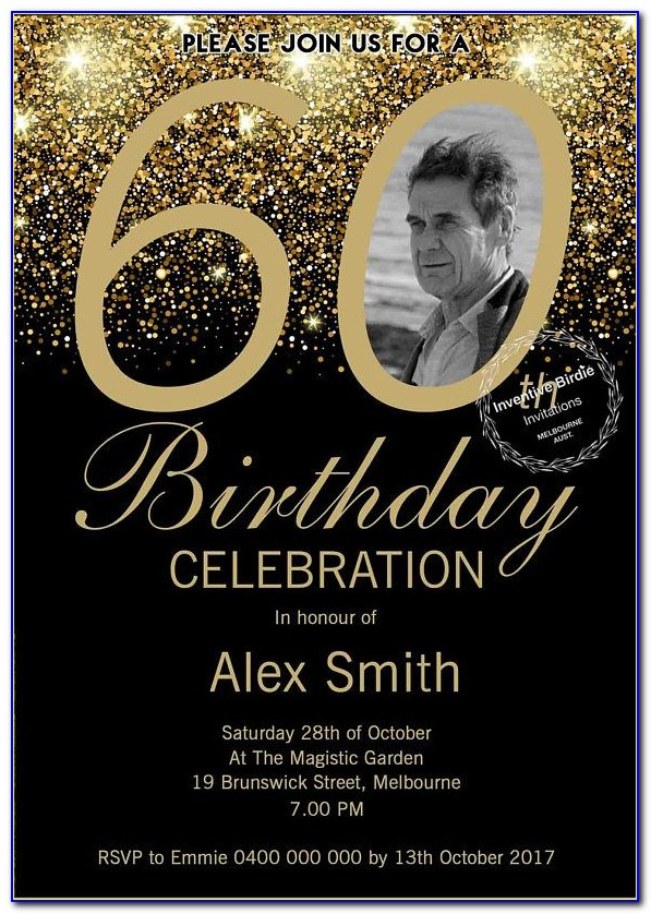 60th Birthday Party Invitation Wording Samples