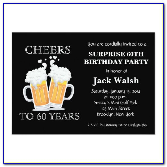 60th Surprise Birthday Invitations With Photo