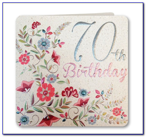 70th Birthday Sayings For Cards