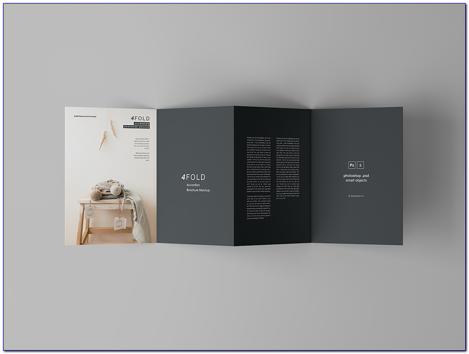 Accordion Fold Brochure Mockup