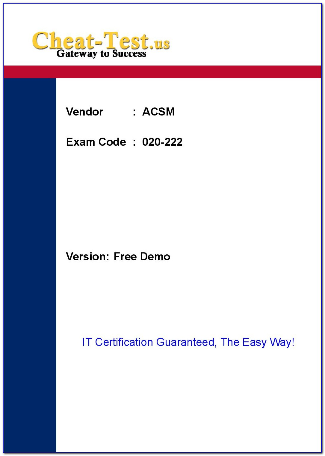 Acsm Clinical Exercise Specialist Certification