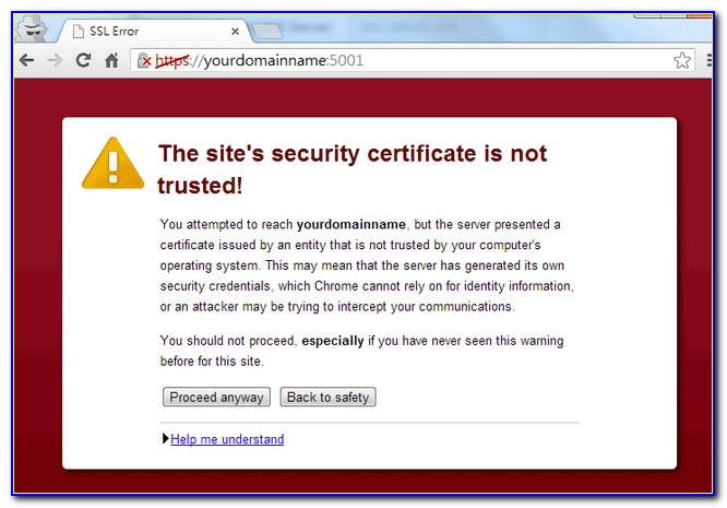 Add Godaddy Trusted Certificate Authority